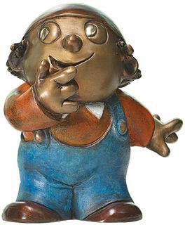 """Skulptur """"Mainzelmännchen Anton"""", Version in Bronze"""