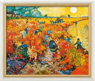 """Bild """"Der rote Weingarten in Arles"""" (1888), gerahmt"""