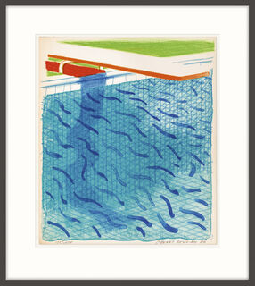 """Bild """"Pool Made with Paper and Blue Ink for Book of Paper Pools"""" (1980)"""