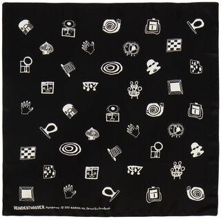 """Seidenfoulard """"Garden of Signs"""" (1994)"""
