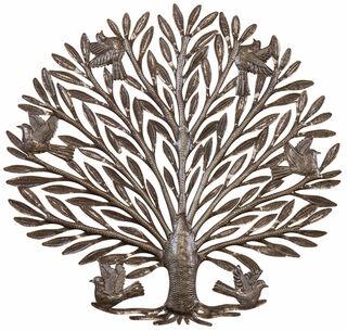 """Wandobjekt """"Lebensbaum"""", Eisen"""