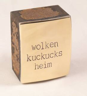 "Objekt ""wolkenkuckucksheim"" (2020) (Unikat), Bronze, Stahl"