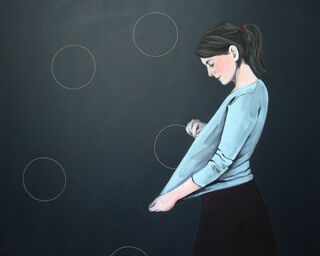 """Bild """"Kreise sticken II"""" (2012) (Unikat)"""