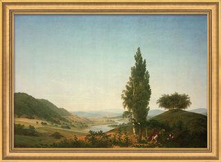 """Bild """"Der Sommer (Landschaft mit Liebespaar)"""", gerahmt"""