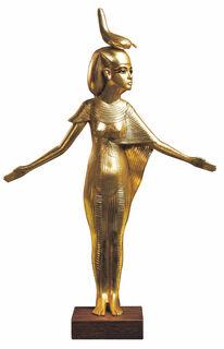 """Skulptur """"Schutzgöttin Selket"""" (Originalgröße), vergoldet"""