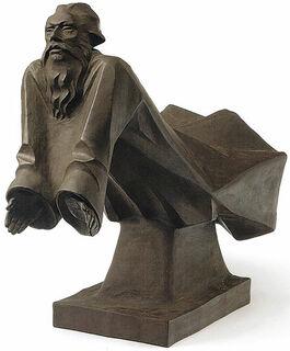 """Skulptur """"Der schwebende Gottvater"""", Böttger-Steinzeug"""