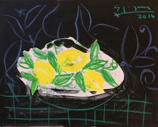 """Bild """"Nature morte aux citrons"""" (2014) (Original / Unikat), auf Keilrahmen"""