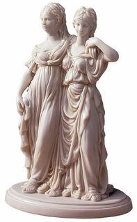"Skulptur ""Luise und Friederike"", Reduktion in Kunstmarmor"