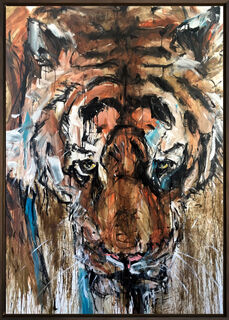 "Bild ""Tiger 1"" (2020) (Unikat)"