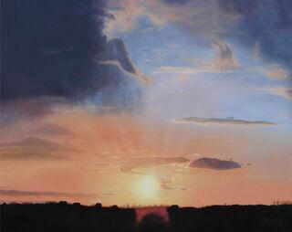 """Bild """"Sonnenuntergang"""" (2018) (Original / Unikat), auf Keilrahmen"""