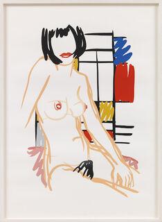 "Bild ""Monica sitting with Mondrian"" (2000)"