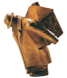 """Skulptur """"Der Hausfreund"""", Bronze"""