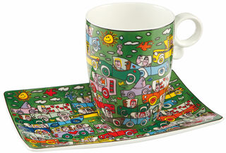 "Kaffeetasse ""Crosstown Traffic"", Porzellan"