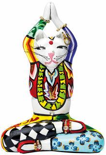 "Skulptur ""Yogakatze Swami"", Kunstguss"