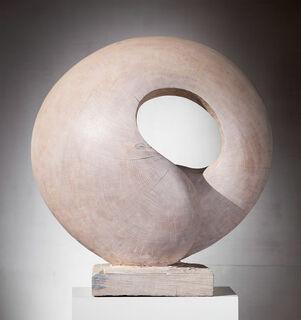 """Skulptur """"Scheibenobjekt"""" (2015) (Original / Unikat), Holz"""