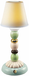 "Kabellose LED-Tischleuchte ""Golden Fall"", Porzellan handbemalt"