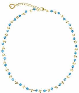 "Perlencollier ""Glace Bleue"""
