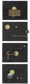 """4 Wandobjekte """"Jahreszeiten-Zyklus"""" im Set"""