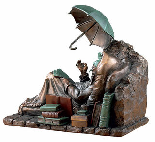 """Skulptur """"Der arme Poet"""" (1839), Kunstguss"""