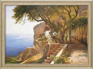 """Bild """"Pergola in Amalfi"""", gerahmt"""