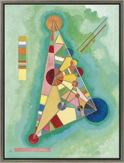 "Bild ""Bunt in Dreieck"" (1927), gerahmt"