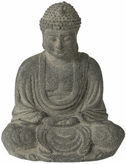 """Gartenskulptur """"Sitzender Buddha"""", Steinguss"""