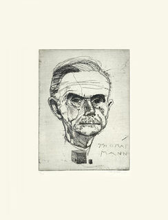 "Bild ""Porträt Thomas Mann"" (2012), ungerahmt"