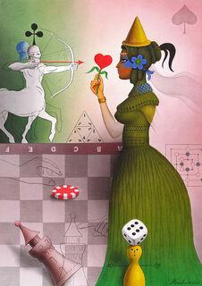 """Bild """"Nur ein Spiel"""" (2020) (Original / Unikat), ungerahmt"""
