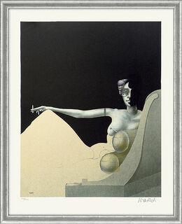 "Bild ""Madame Recamier"" - aus Grafikfolge ""Lithografien II"", gerahmt"