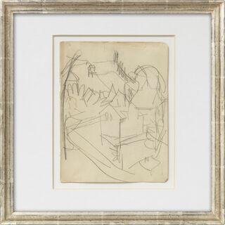 """Bild """"Landschaft mit Häusern"""" (um 1911)"""