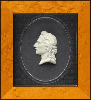 """Miniatur-Porzellanbild """"Friedrich Schiller"""", gerahmt"""