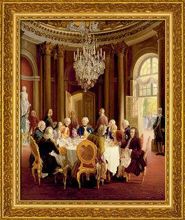 """Bild """"Die Tafelrunde"""" (1850), gerahmt"""