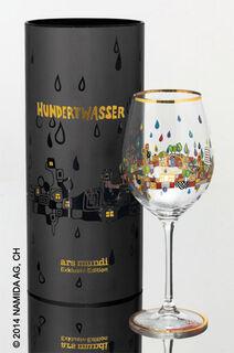 """(PM XIX/1) Weinglas """"BEAUTY IS A PANACEA - Platin - Weißwein"""""""