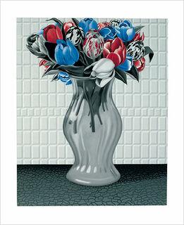 """Bild """"Tulpen - Neuzüchtung"""", ungerahmt"""