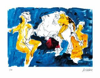 """Bild """"Pegasus mit Nymphen"""" (2020), ungerahmt"""