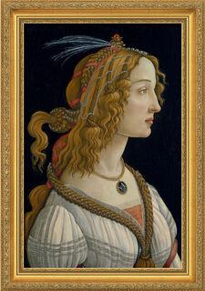 """Bild """"Weibliches Idealbildnis"""" (ca. 1480), gerahmt"""