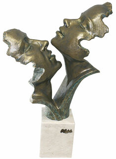 "Skulptur ""Leidenschaft"", Kunstguss Steinoptik"