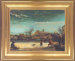 "Bild ""Winterlandschaft"" (1646), gerahmt"