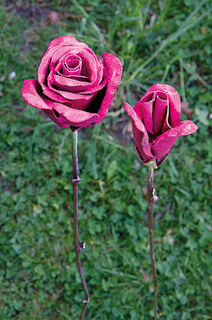 "Gartenstecker-Blumenset ""Rosa Rosen"", 2-teilig"