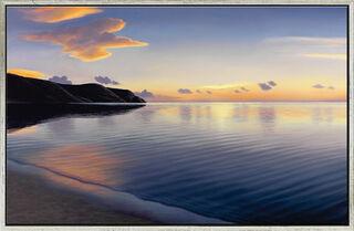 """Bild """"Abendliche Bucht"""" (2013), gerahmt"""