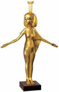 "Skulptur ""Schutzgöttin Nephthys"" (Originalgröße), vergoldet"