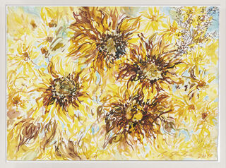 "Bild ""Sonnenblumen"" (2018) (Unikat)"