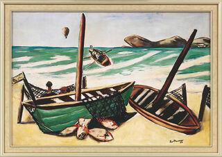 """Bild """"Küstenlandschaft mit Ballon"""" (1932), gerahmt"""