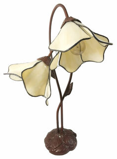 """Tischleuchte """"Weiße Blüten"""" - nach Louis C. Tiffany"""