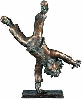 """Skulptur """"Radschläger"""", Bronze"""