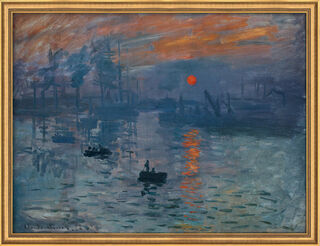 "Bild ""Impression, Sonnenaufgang"" (1873), gerahmt"