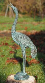 """Gartenskulptur """"Reiher I"""", Bronze"""