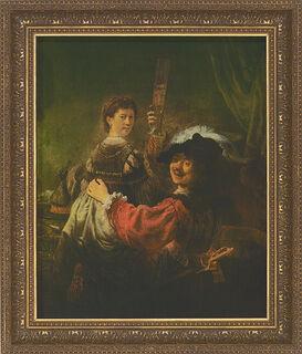 "Bild ""Selbstbildnis mit Saskia"" (1635-39), gerahmt"