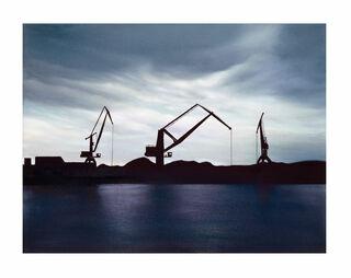 """Bild """"Industriehafen im Gegenlicht"""", ungerahmt"""