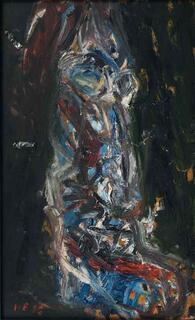 """Bild """"Kaspar der Blaue, Kasparzug"""" (1986) (Unikat)"""